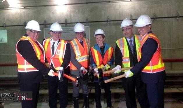 Toronto subway extension tracklaying complete