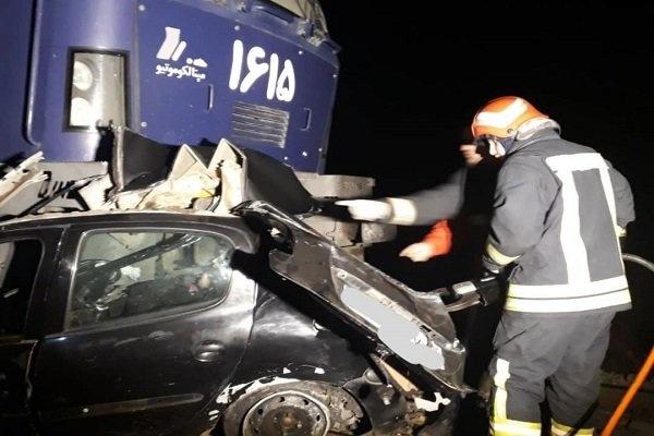 برخورد قطار تبریز-مشهد با خودرو چهار کشته برجای گذاشت
