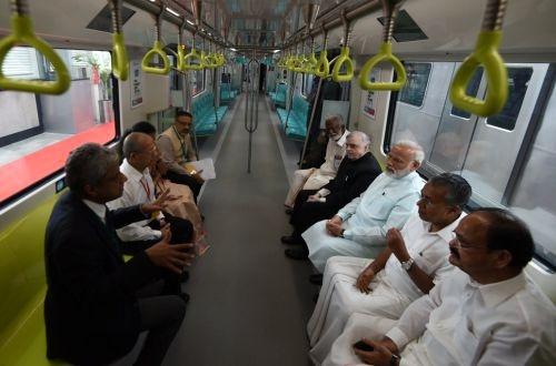 Indian prime minister inaugurates Kochi metro