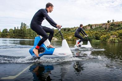 دوچرخه سواری روی آب؛ تجربه ای جدید برای علاقه مندان به تکنولوژی