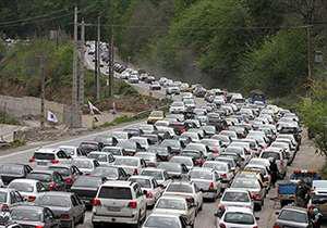 ترافیک سنگین در محور پارک ملی گلستان