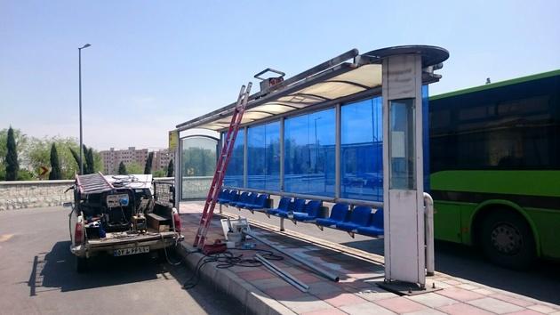بازسازی سرپناه ایستگاههای اتوبوس ورودی غربی پایتخت