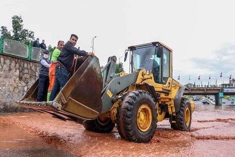 گزارش تصویری وضعیت تبریز بعد از بارندگی شدید