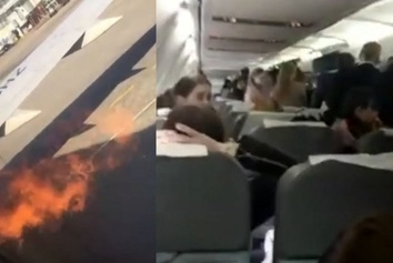 حادثه جدید برای هواپیمای 737 : مسافران از درب اضطراری فرار کردند+ فیلم