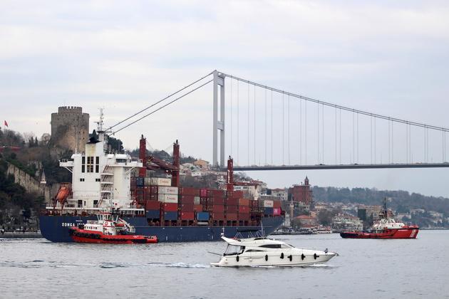 Containership Runs Aground in Bosphorus Strait