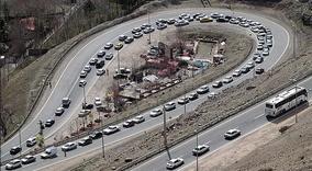 ترافیک سنگین در چالوس/ترافیک روان در هراز وفیروزکوه