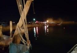 آتش گرفتن چند فروند لنج در بندر عامری