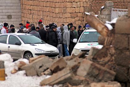 تصاویر  خسارتهای زلزله در قطور - آذربایجان غربی