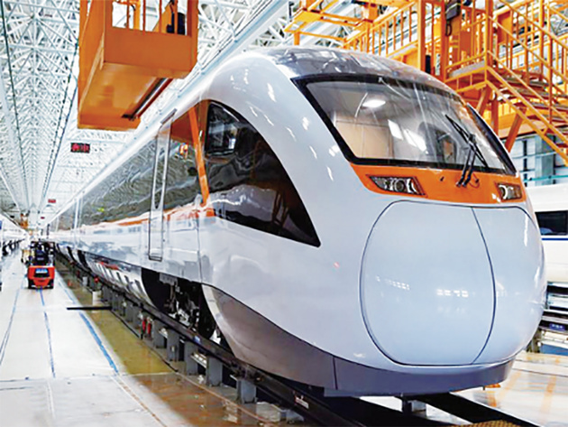 Electric-battery train on test