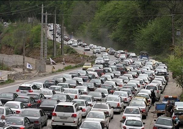 ترافیک سنگین در مسیر جنوب به شمال جاده هراز