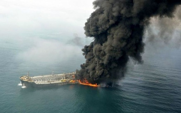 زمان عملیات غواصی در محل غرق شدن لاشه نفتکش سانچی