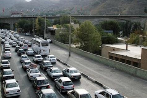 جدول وضعیت ترافیک لحظهای راههای اصلی و فرعی استان تهران - ۲