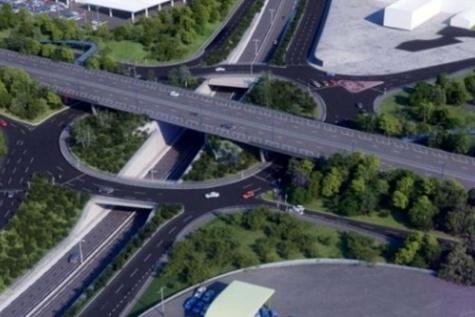 Work begins on triple decker roundabout in North Tyneside, England