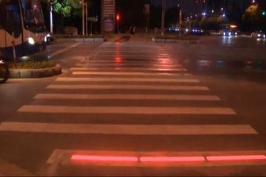 نصب چراغهای هشداردهنده کف در 8 دوربرگردان محور ارومیه-مهاباد
