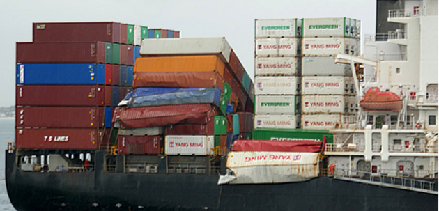 Survey vessel finds 37 of 81 containers lost from 'YM Efficiency'