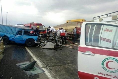 کشته و زخمی شدن 7 نفر بر اثر تصادف در محور سلماس-خوی