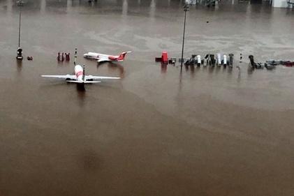 فرودگاه کوچین هند زیر آب رفت
