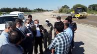 بازدید معاون ساخت و توسعه راههای شرکت ساخت از پروژه های توسعه بزرگراهی اردبیل