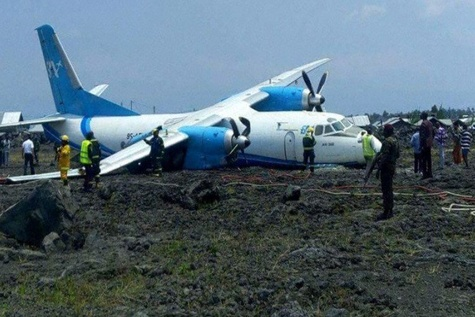 Serve Air Cargo AN-26 Engine Failure Results In Runway Excursion